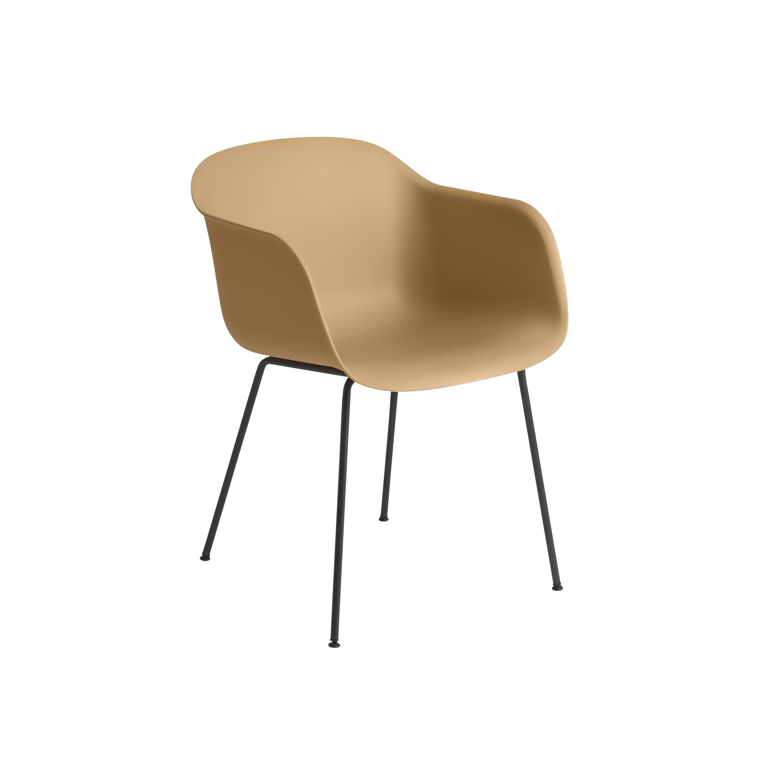Muuto Fiber Armchair Tube Base Ochre/Black