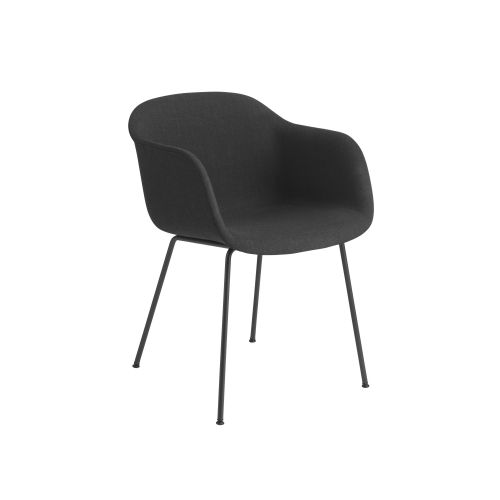 Muuto Fiber Armchair Tube Base Remix183/Black