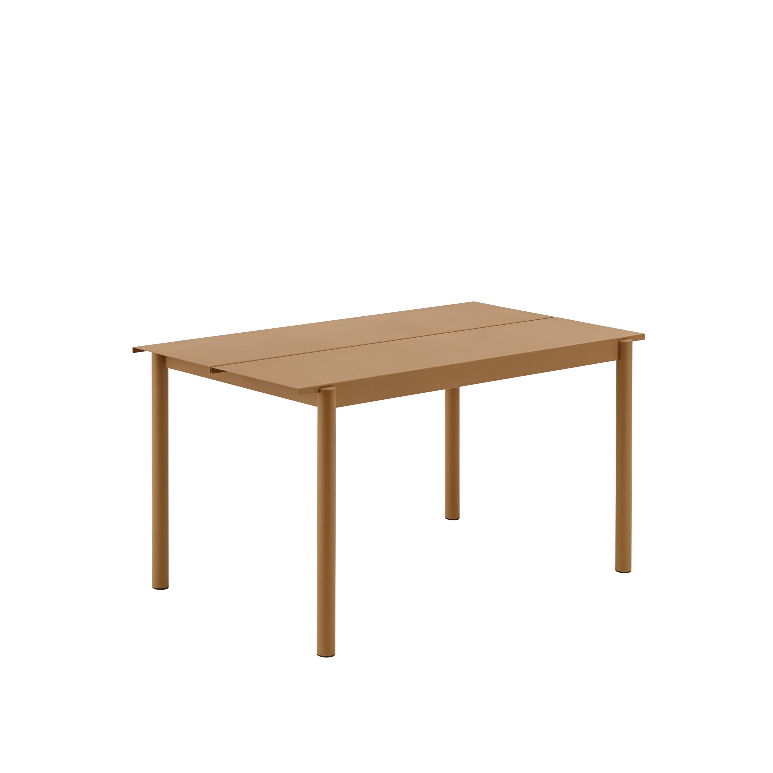 Muuto Linear Steel Table 140 Burnt Orange