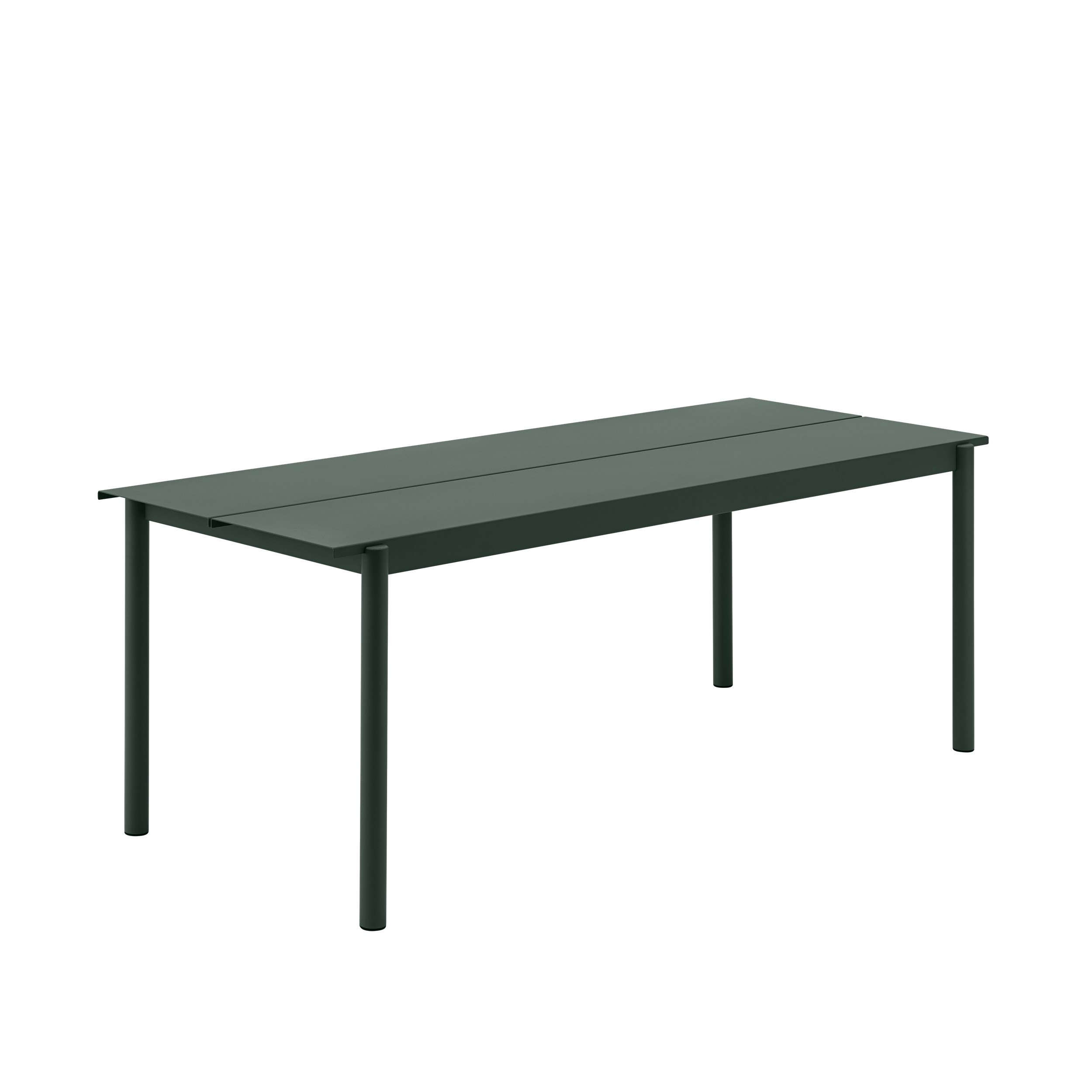 Muuto Linear Steel Table 200 Dark Green