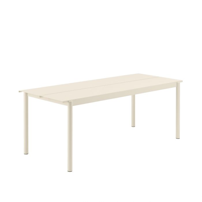 Muuto Linear Steel Table 200 Off-white