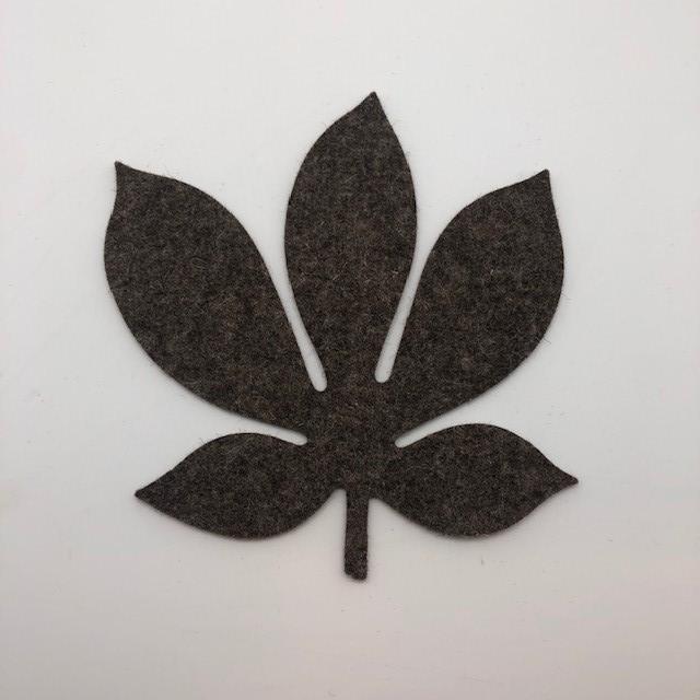 Onderzetter blad chestnut pepper 47