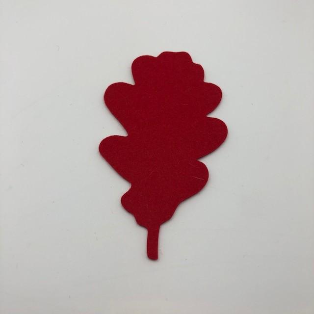 Onderzetter blad oak poppy red 55