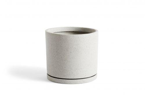 Plant Pot with Saucer XXL Grey