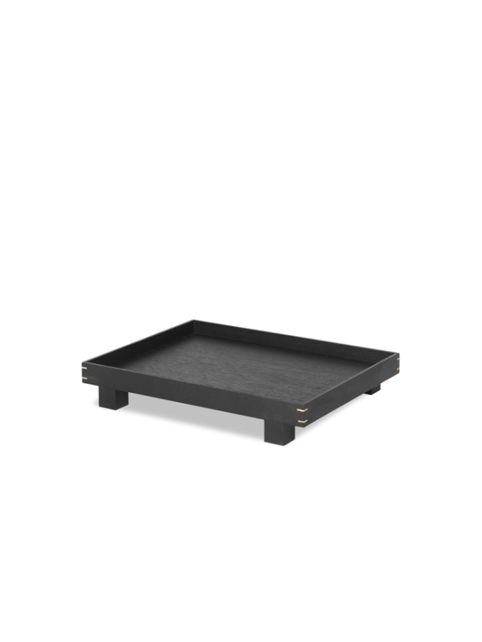 Bon wooden tray small black stained oak