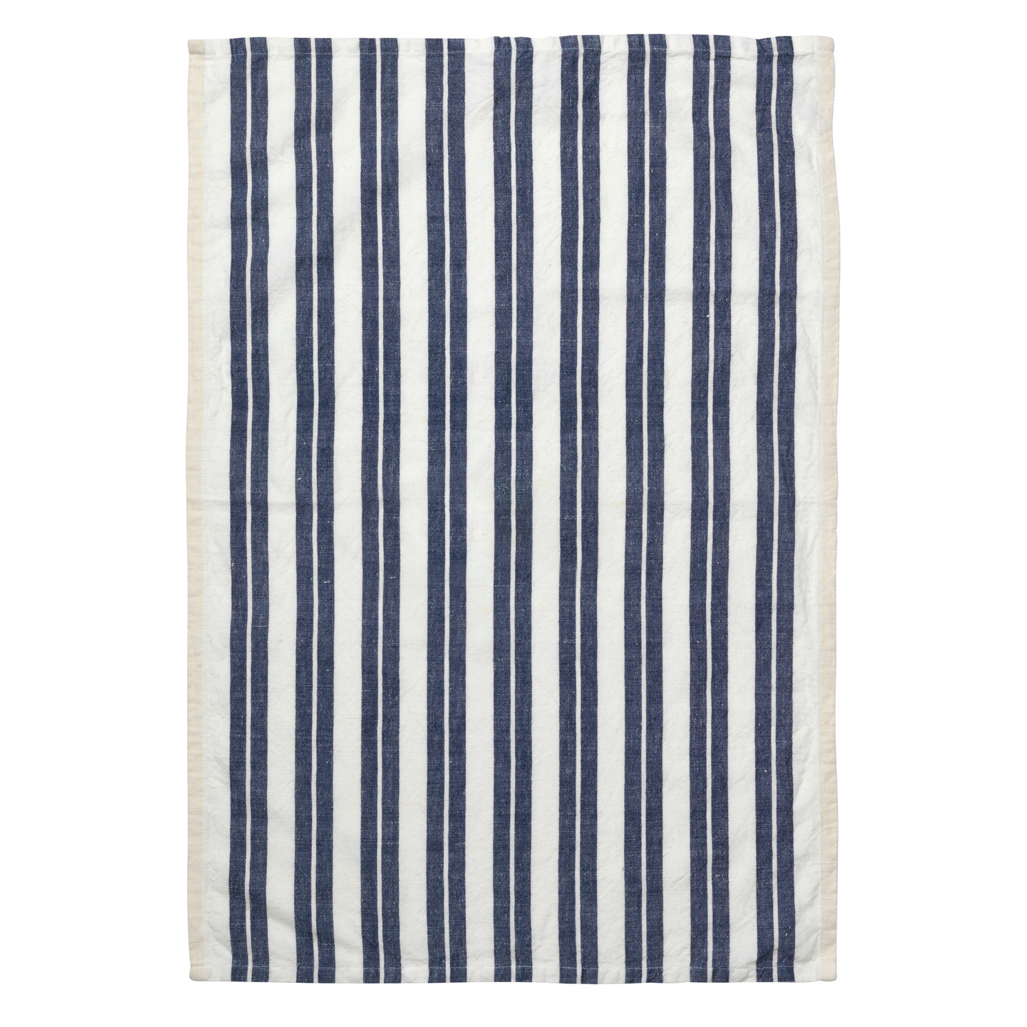 Hale yarn dyed linen tea towel off white