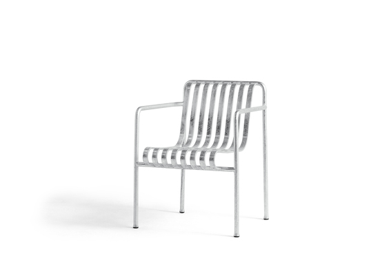 Hay Palissade Dining Arm Chair Hot Galvanised