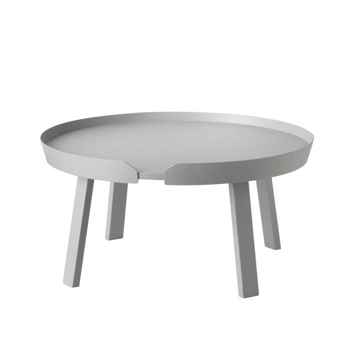 Around coffee table large grey