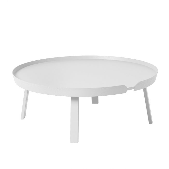 Around coffee table extra large white
