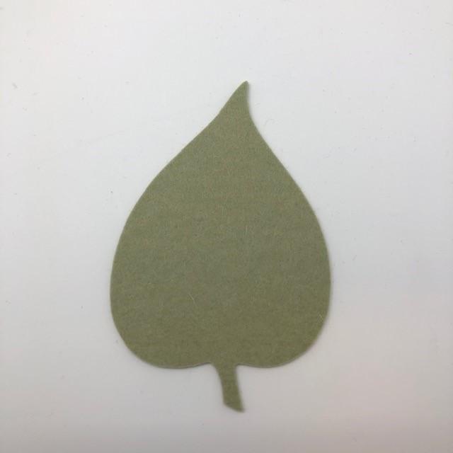 Onderzetter blad linden pistachio 48