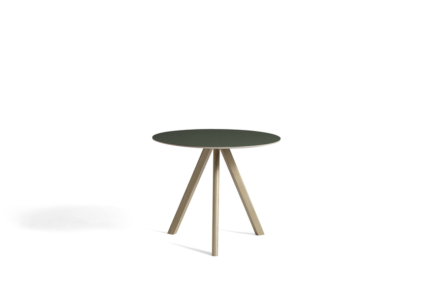 Hay CPH20 Table Round 90 Green Linoleum/Soaped