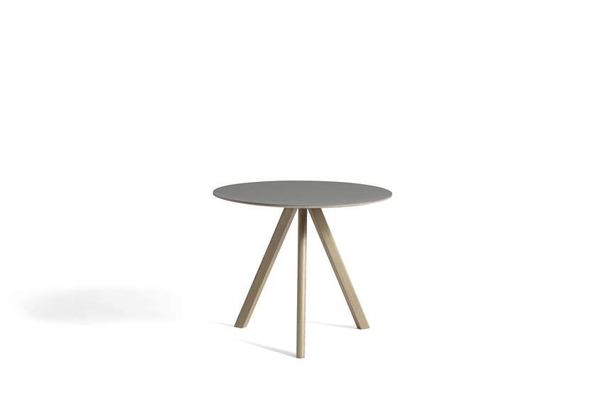 Hay CPH20 Table Round 90 Grey Linoleum/Soaped