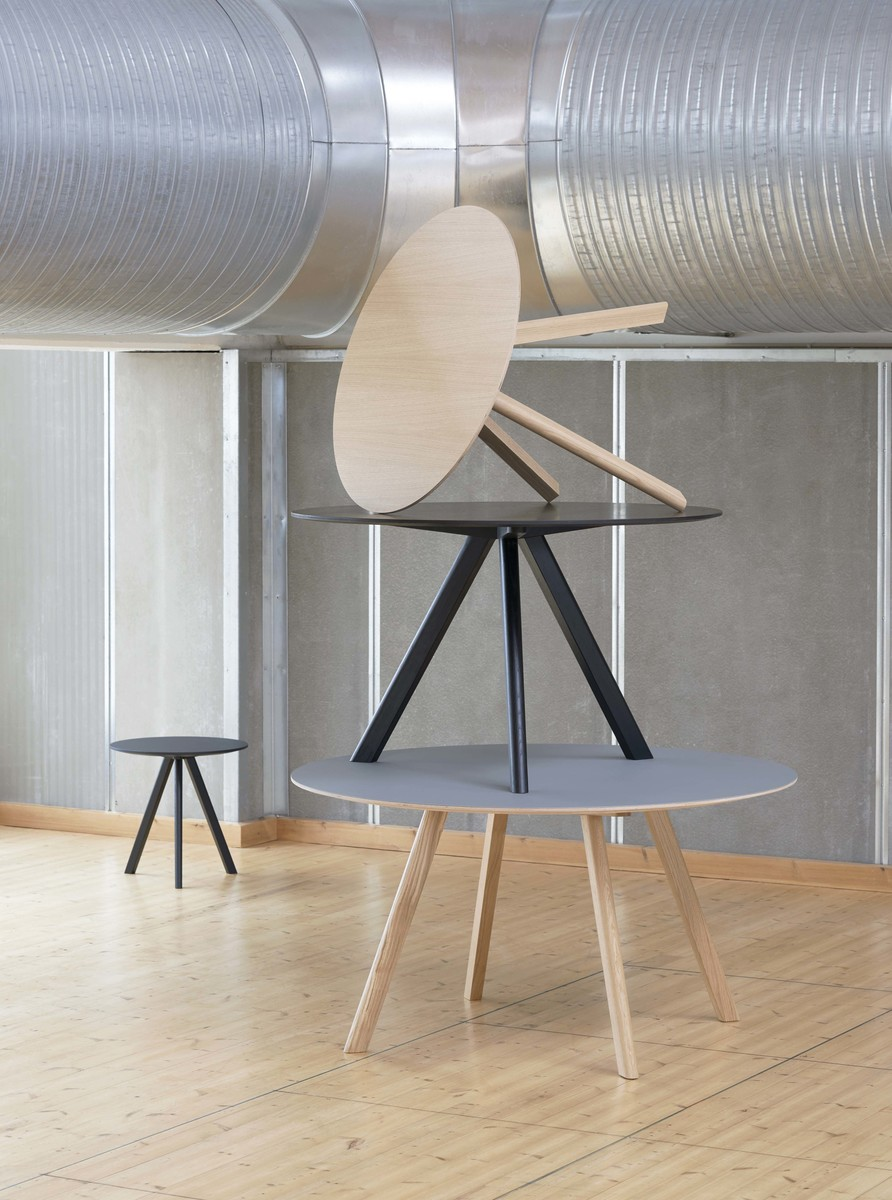 Hay CPH20 Table Round 90 Off-white Linoleum/Soaped