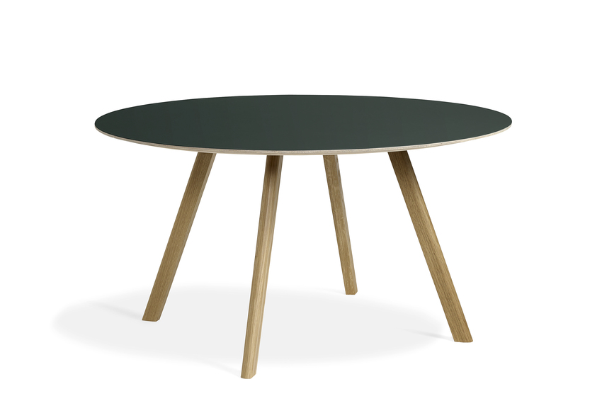 Hay CPH25 Table Round 140 Green Linoleum/Clear