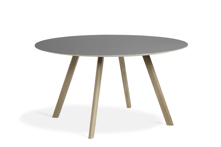 Hay CPH25 Table Round 140 Grey Lino/Soaped