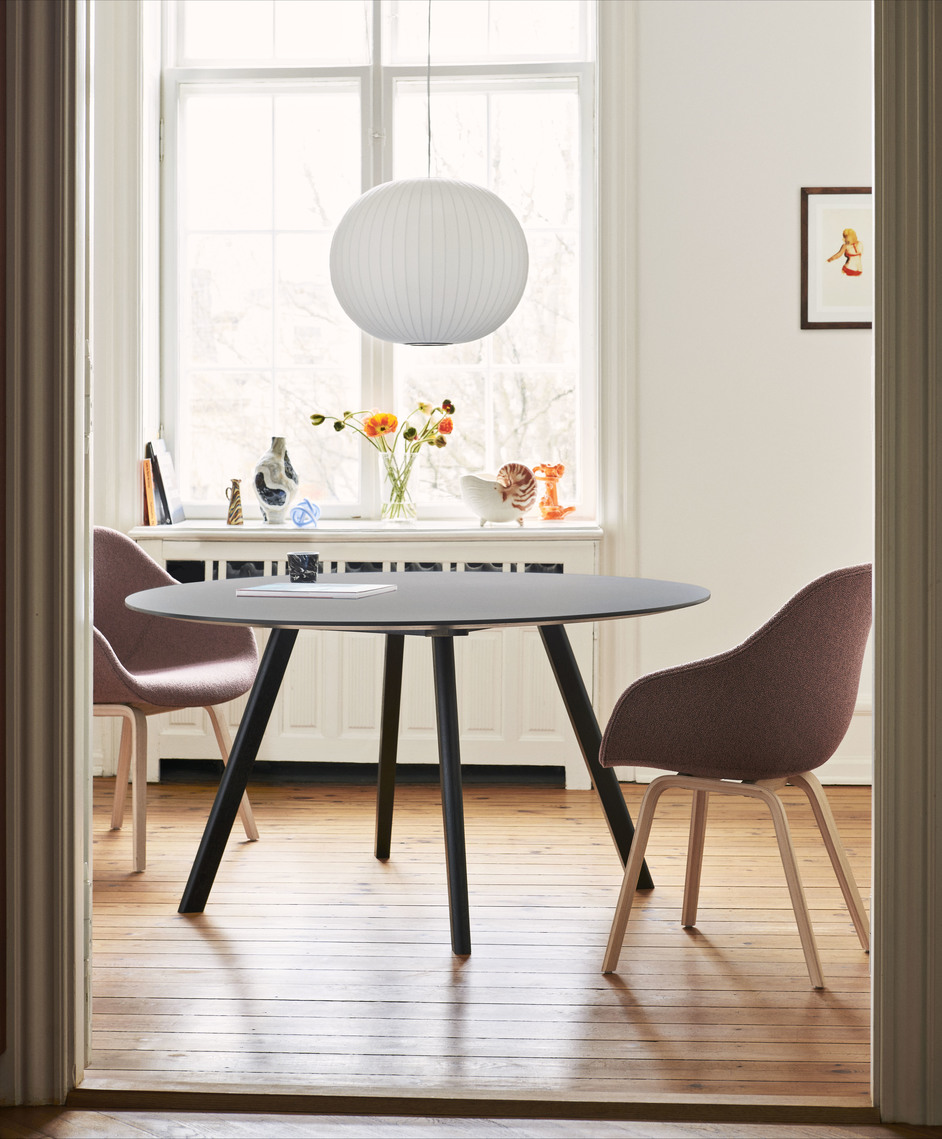 Hay CPH25 Table Round 140 White Lam/Soaped