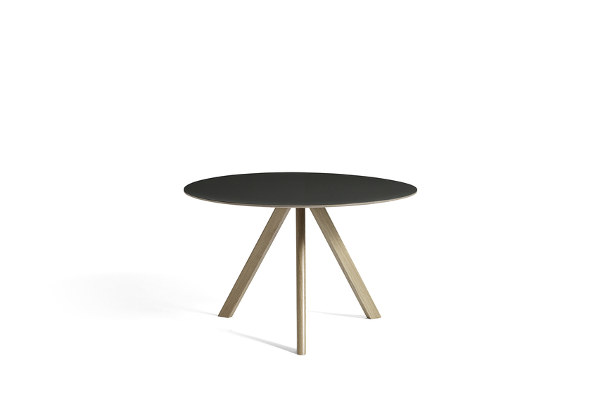 Hay CPH 20 Table Round 120 Black Linoleum/Soaped