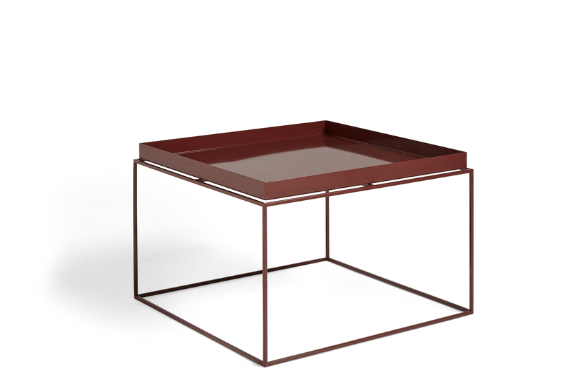 Hay Tray Table Side Table Chocolate High Gloss
