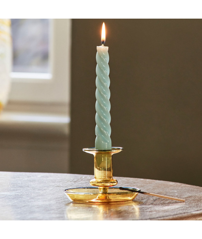 candle spiral green