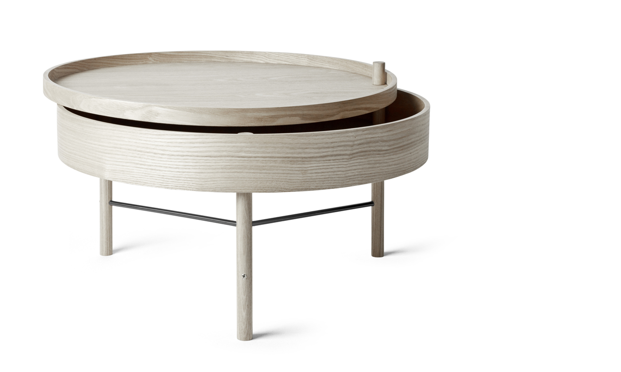 Menu Turning Table White Oak / Black Chrome