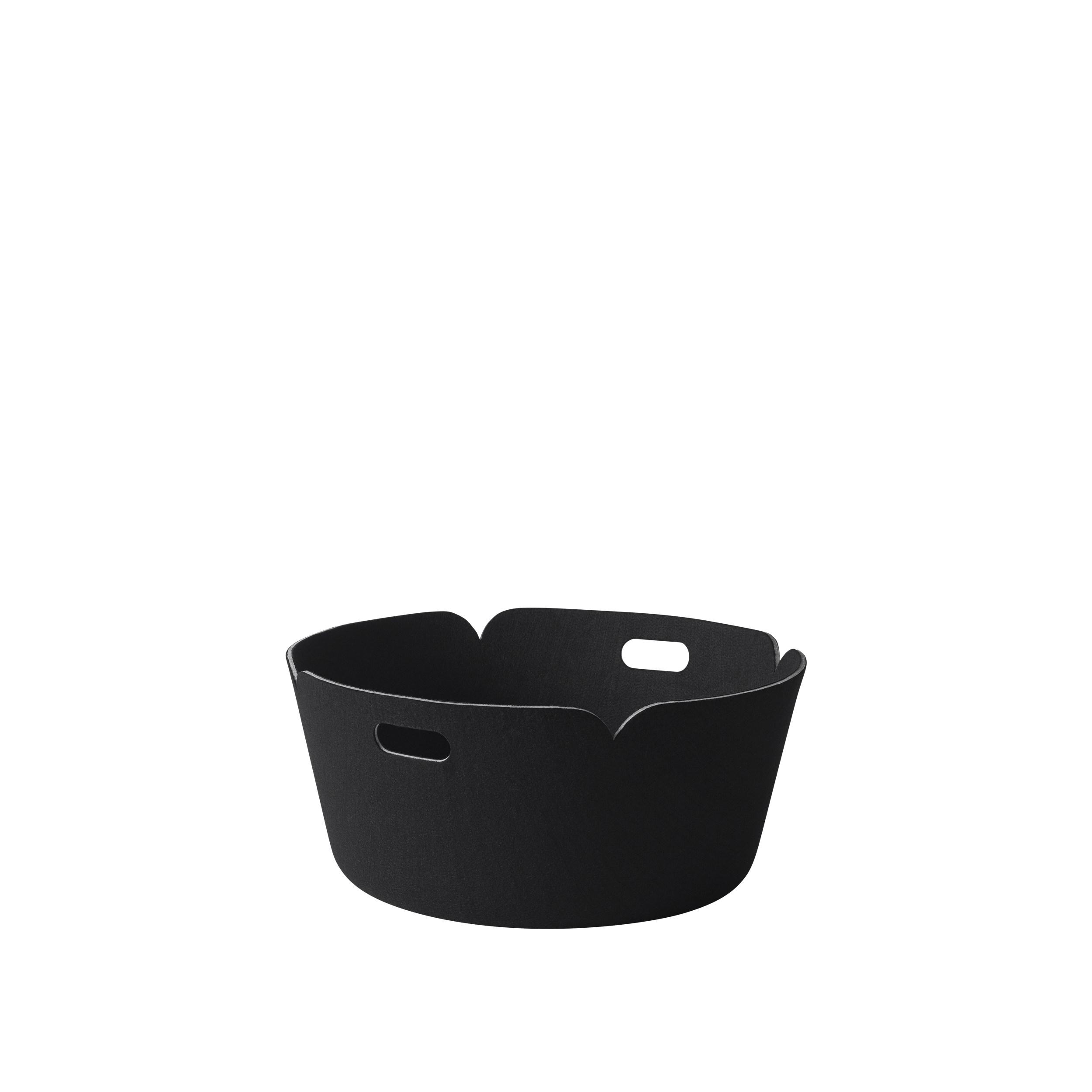 Restore basket round black