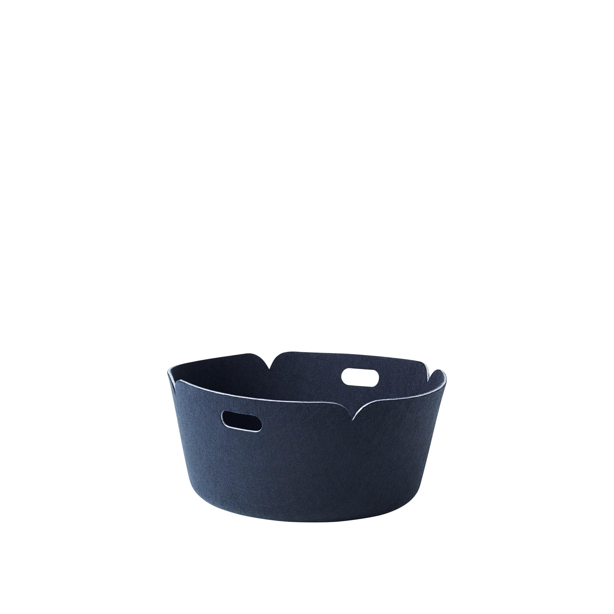 Restore basket round midnight blue
