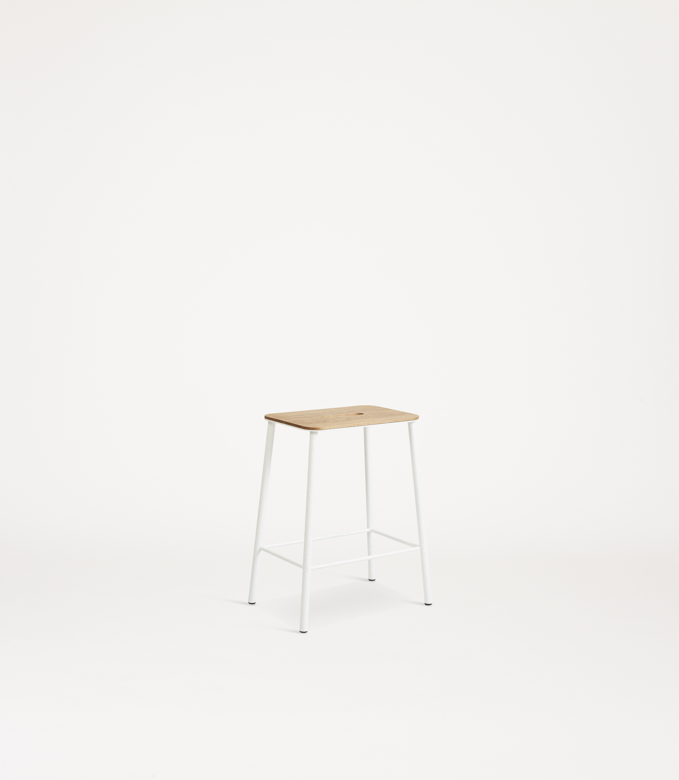 Frama Adam Stool H50 Oak/White