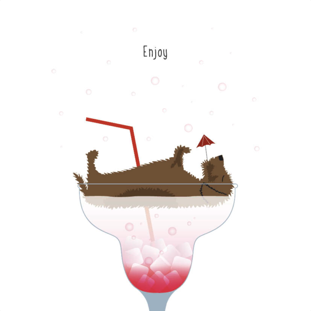 Gevouwen kaart Frits - Enjoy