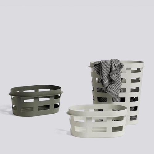 HAY Laundry Basket Large Light Grey