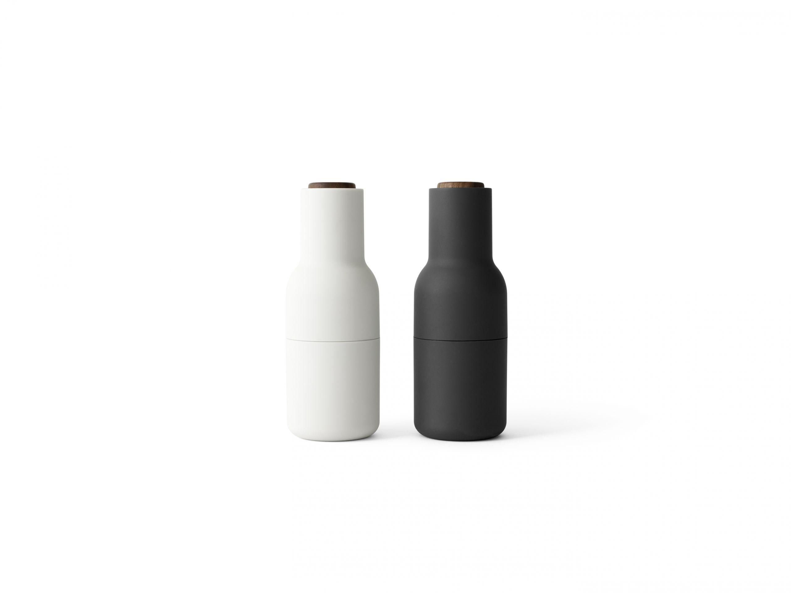 Menu Bottle Grinder Walnut Lid Ash/Carbon 2-pack