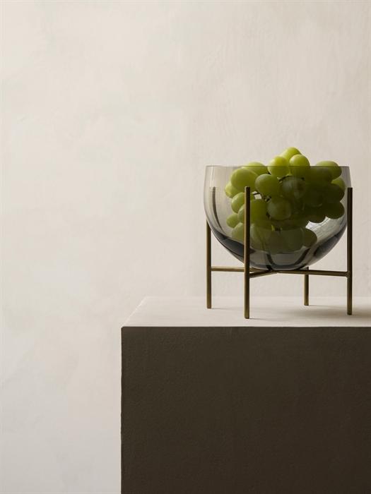 Menu Echasse Bowl S Smoke Glass/Brushed Brass