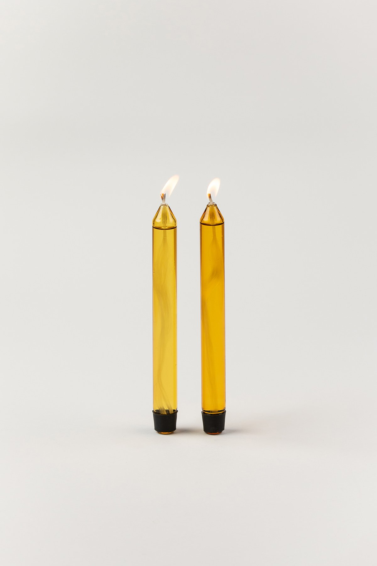 Studio About Candle Glass Candle Oil Yellow 2-pack