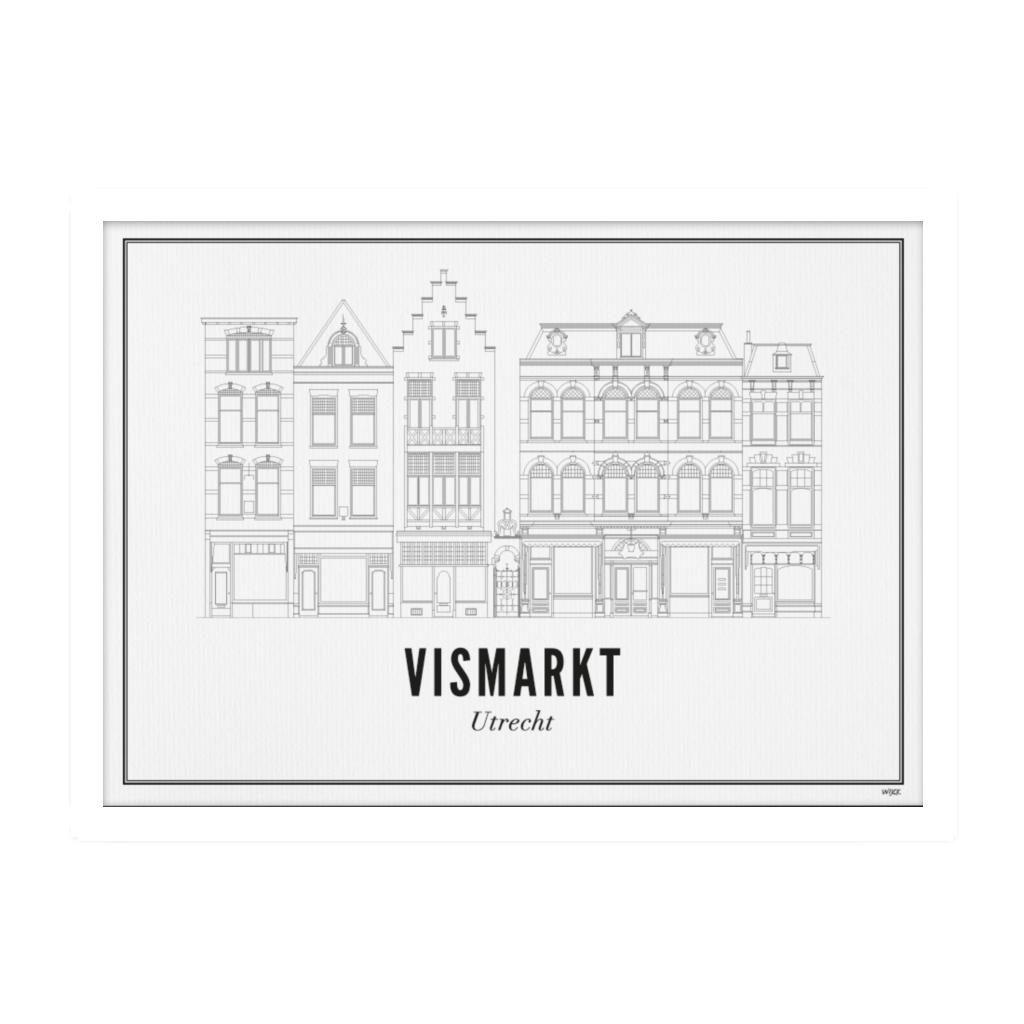 Utrecht Vismarkt ansichtkaart