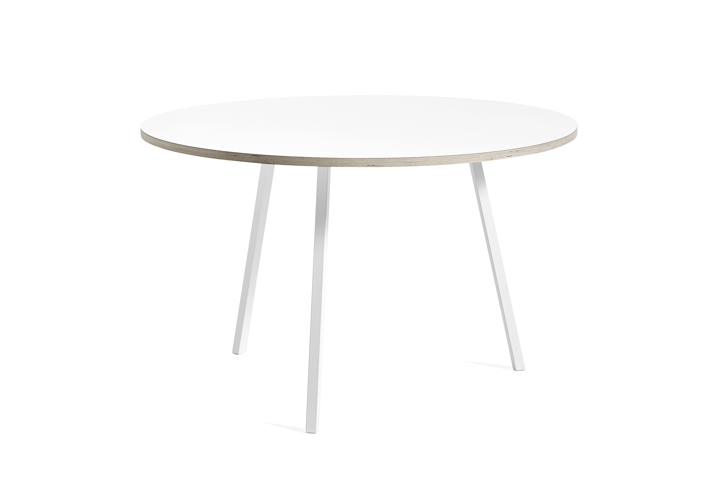 Loop stand round table white laminate 120 cm