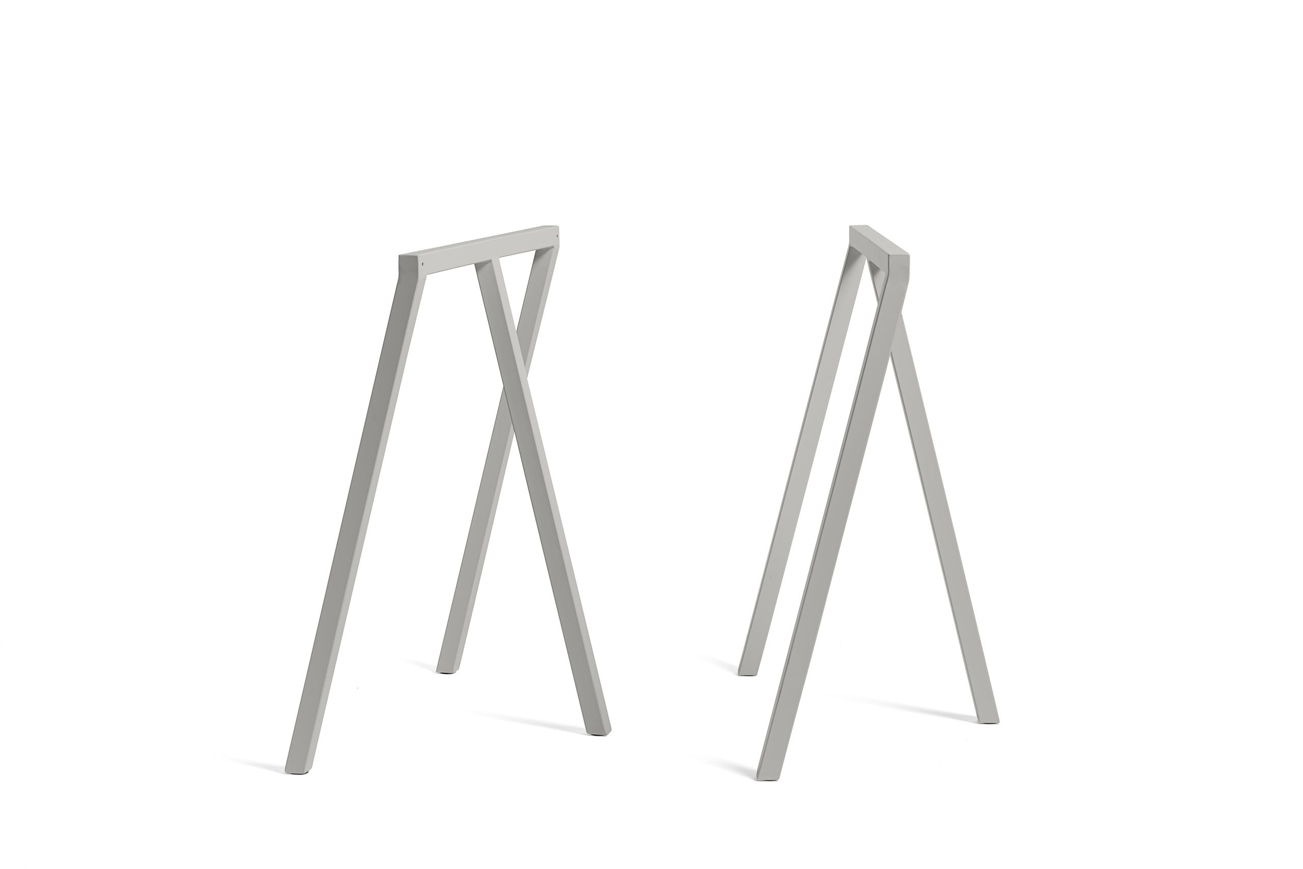 Loop stand table grey linoleum 200 cm