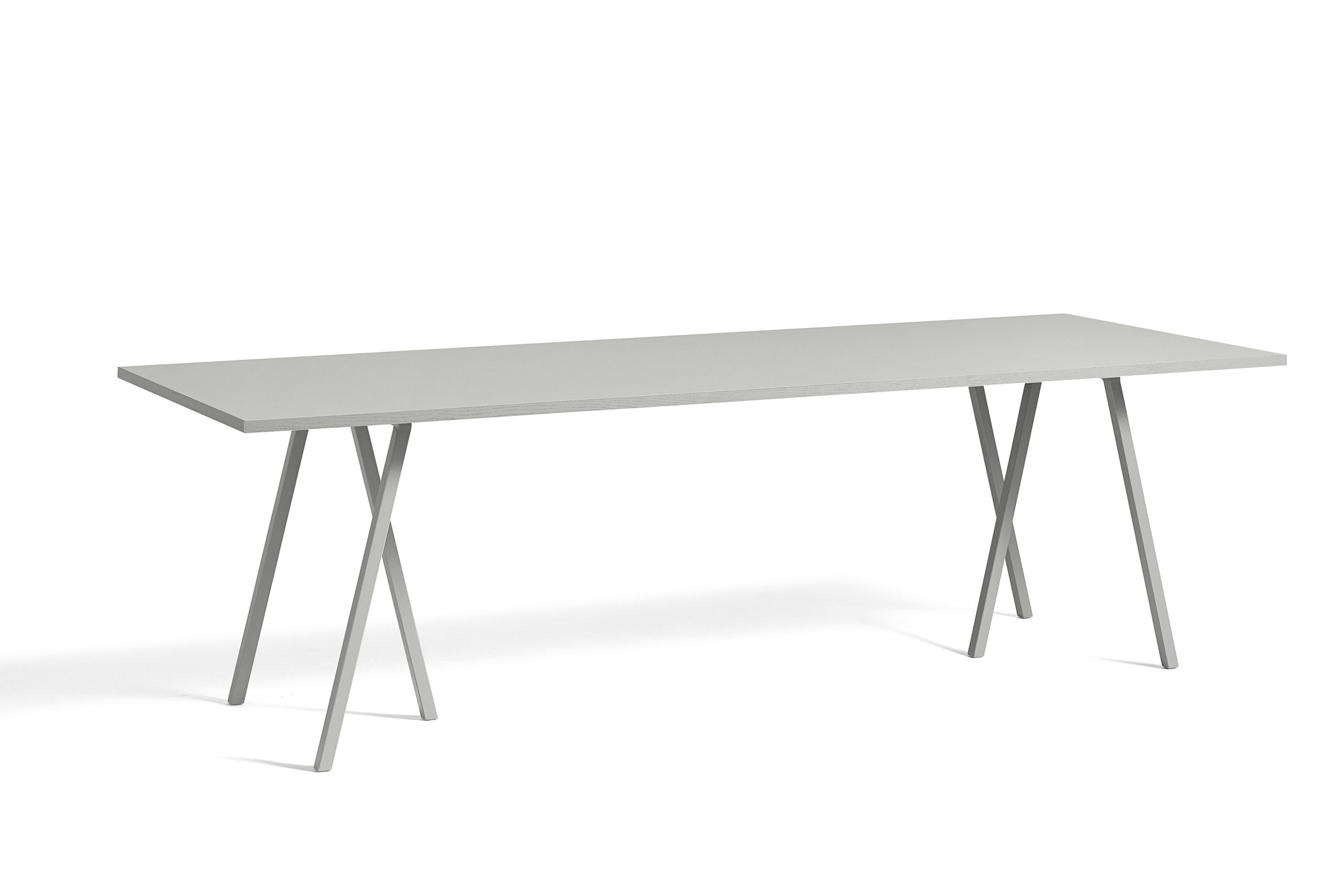 Loop stand table grey linolueum 250 cm