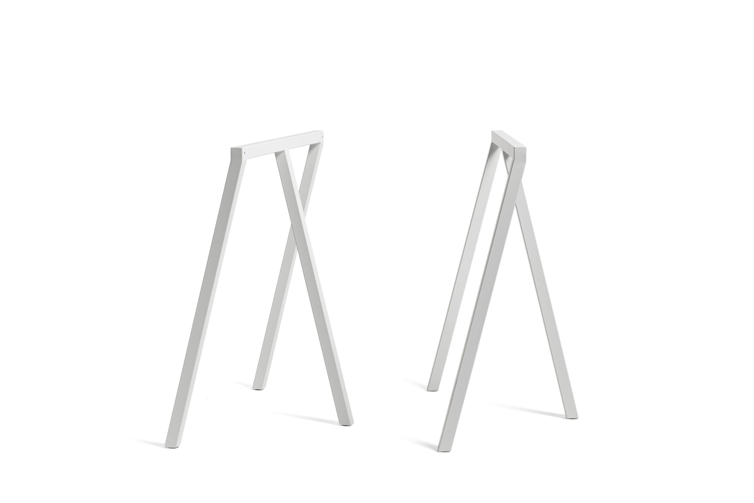 Loop stand table white laminate 160 cm