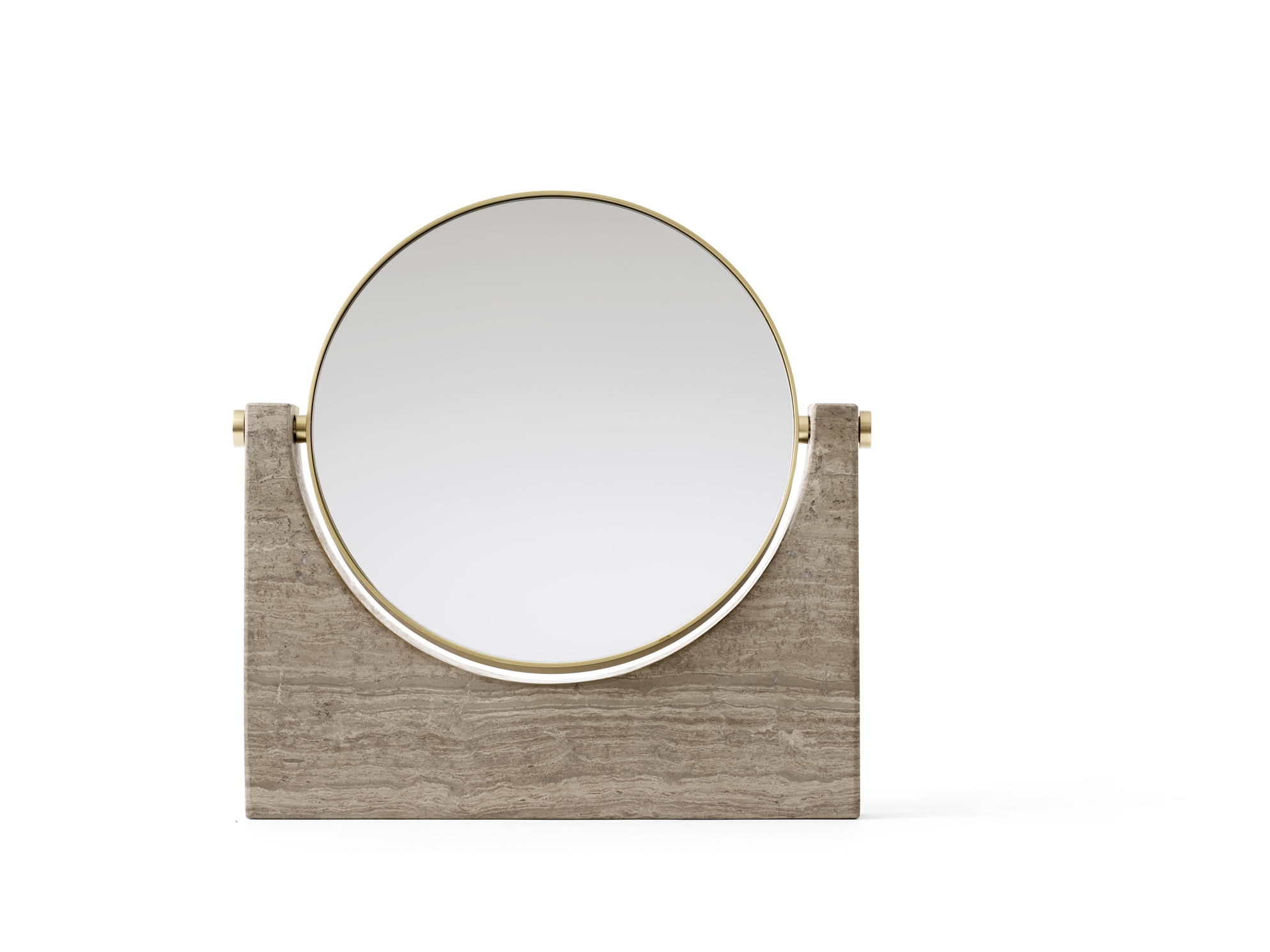 Menu Pepe Marble Mirror Brass/Brown