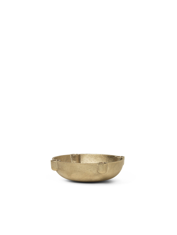 Ferm Living Bowl Candle Holder S Brass