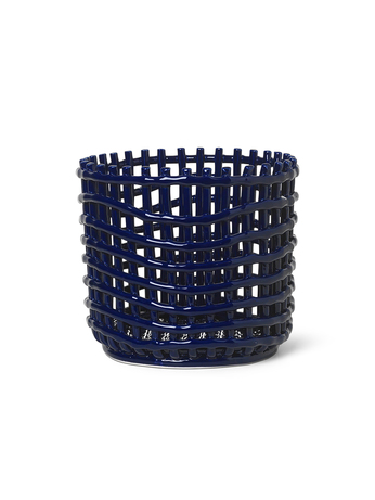Ferm Living Ceramic Basket Large Blue