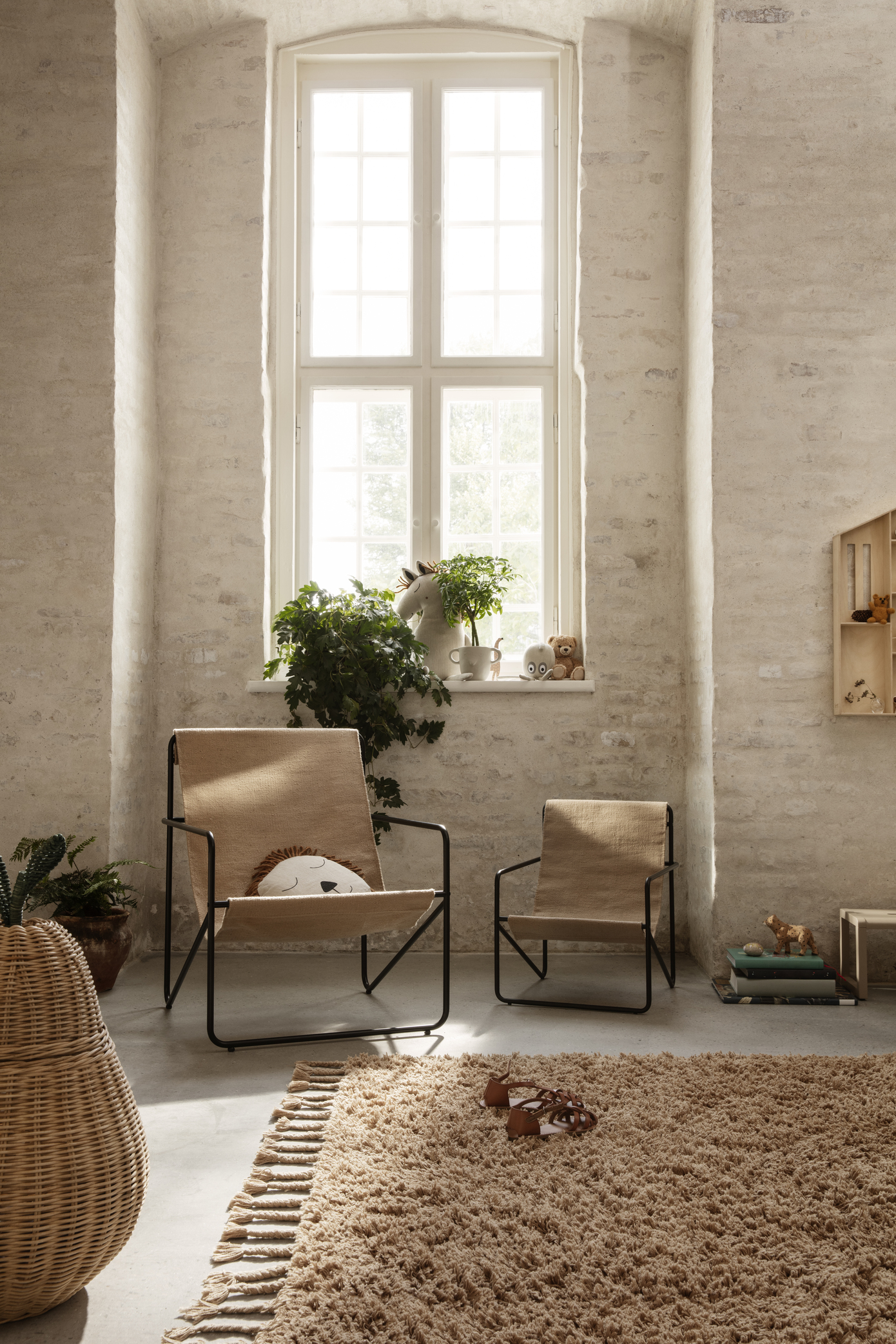 Ferm Living Desert Chair Black/Soil