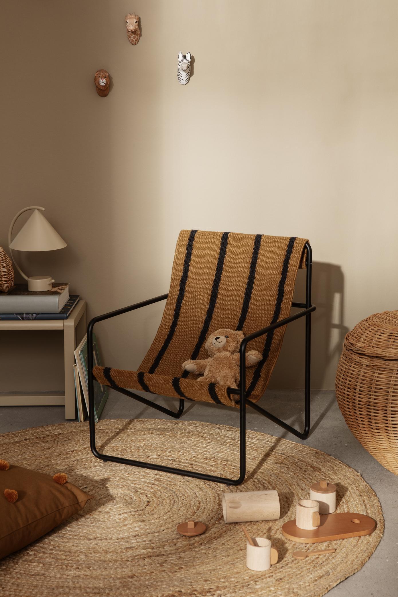 Ferm Living Desert Chair Kids Black/Stripe