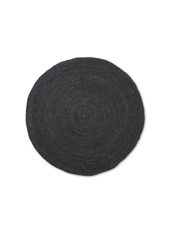 Ferm Living Eternal Round Jute Rug Small Black