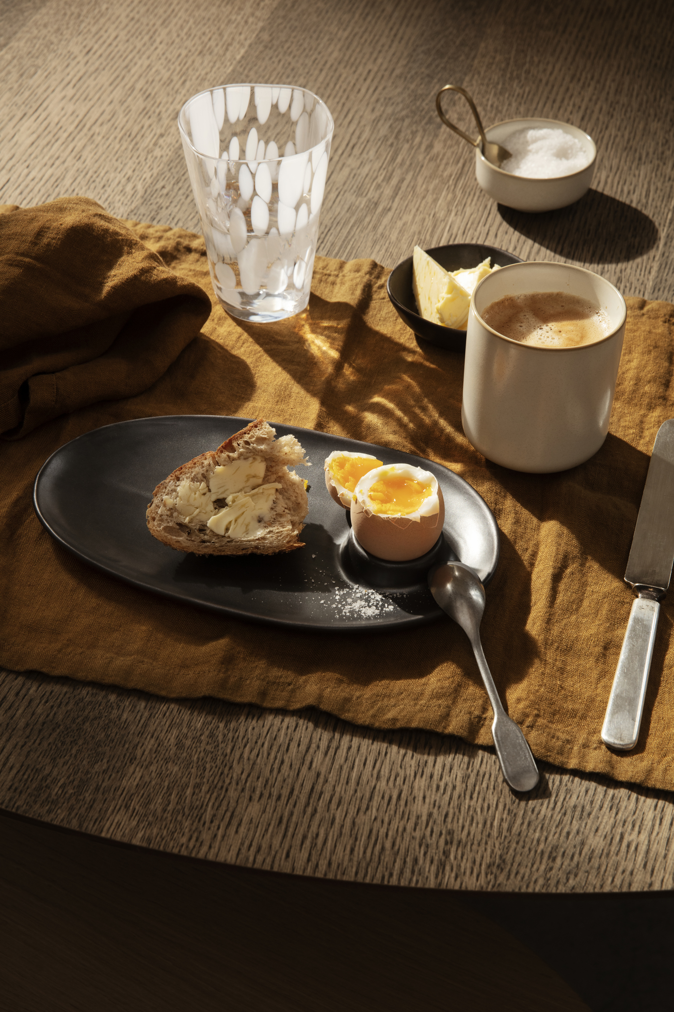 Ferm Living Flow Breakfast Plate Black