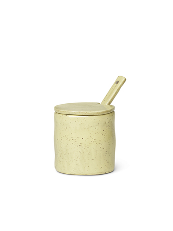 Ferm Living Flow Jar with Spoon Yellow Speckle