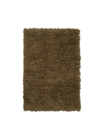 Ferm Living Meadow High Pile Rug S Tapenade