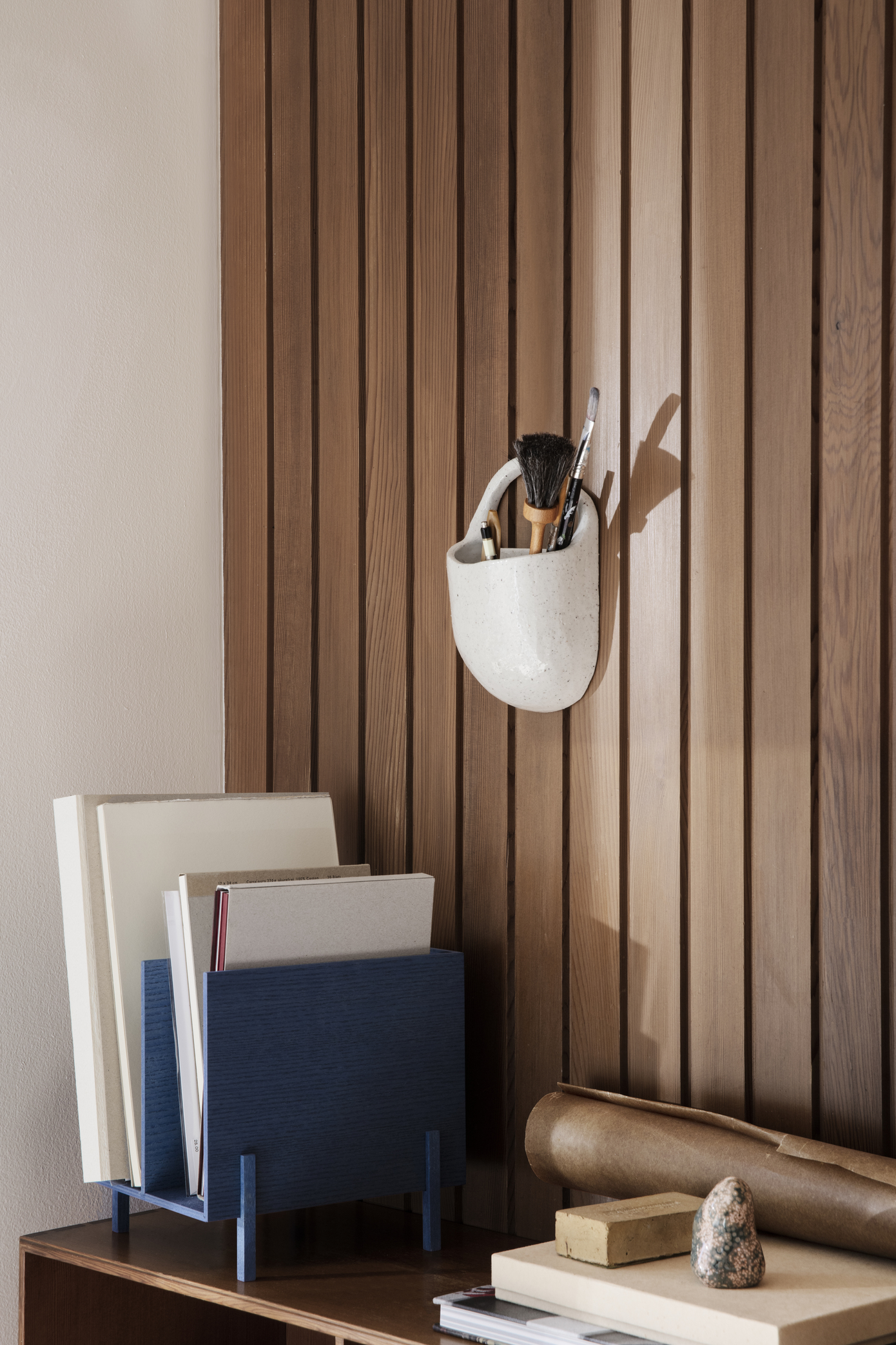 Ferm Living Paper Organiser Blue Stained Ash