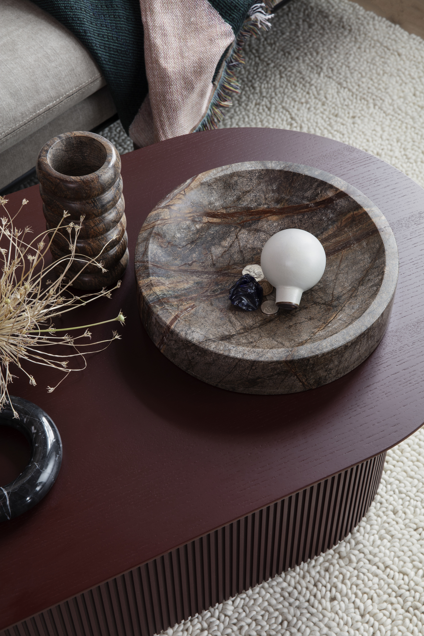 Ferm Living Podia Table Red Brown