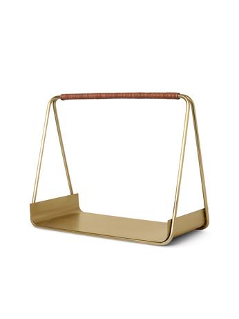 Ferm Living Port Wood Basket Brass