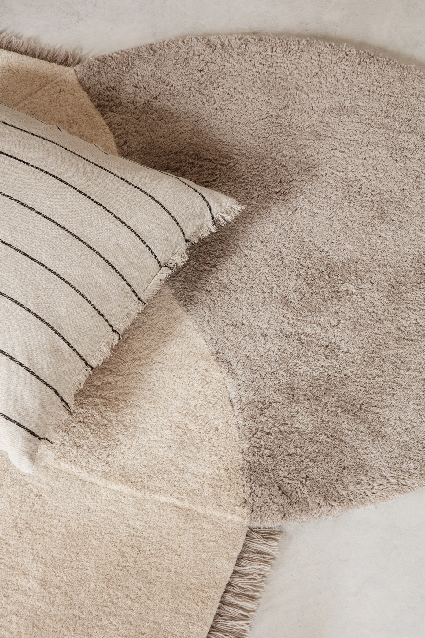 Ferm Living View Tufted Rug Beige